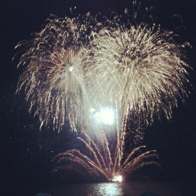 Fireworks at the beach back home.
