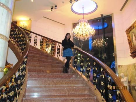 Fancy dinner, at a fancy hotel