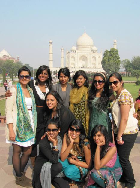 At the Taj with the girls