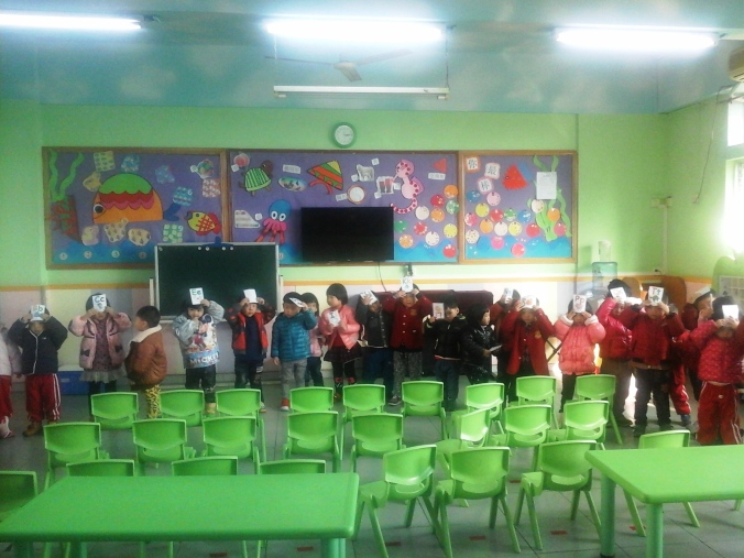 Kindergarten class during an activity